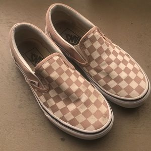 Youth Vans checkered Slip-On Shoes